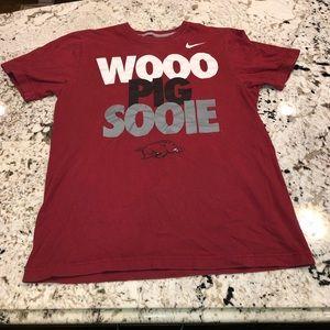 Arkansas Nike t shirt - woo pig sooie
